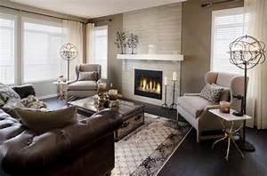 Braunes Sofa Weiße Möbel : wohnzimmer einrichten modernes designer sofa aus leder ~ Sanjose-hotels-ca.com Haus und Dekorationen