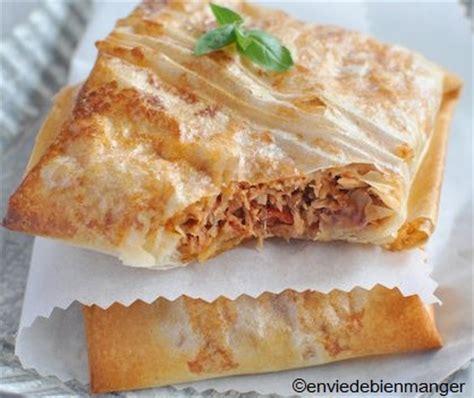 cuisiner la feuille de brick recette de thon à la tomate en feuille de brick recettes