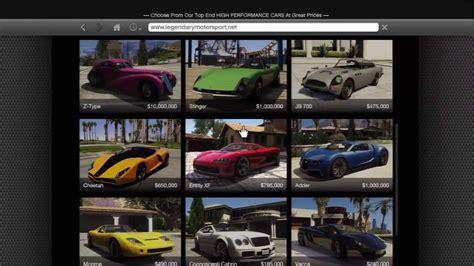 gta      legendary sport cars youtube