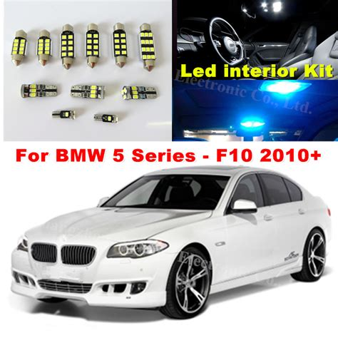 wljh white canbus dome footwell trunk lighting bulb led car interior light kit for bmw f10