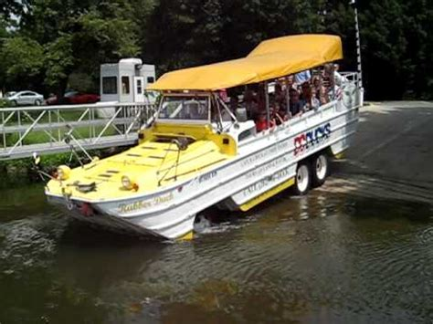 Duck Boat Tours Dc by Dc Duck Tour Enters The Water Youtube