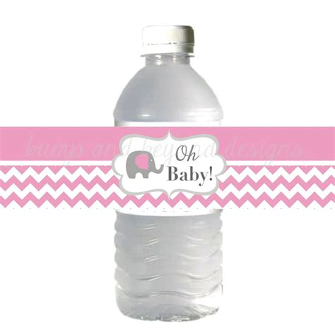 baby shower water bottle labels gum