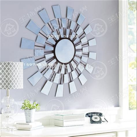 aliexpress buy metal glass sunburst wall mirror decor from reliable mirror back