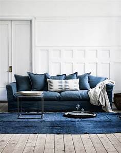 1722 best images about decorating apartments condos for Small sectional sofa denim