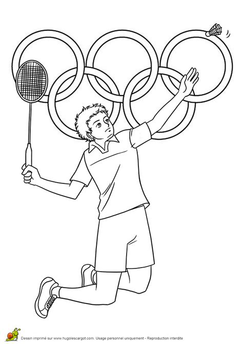 Kleurplaat Badminton by Desenhos Das Olimp 237 Adas Para Imprimir Cantinho