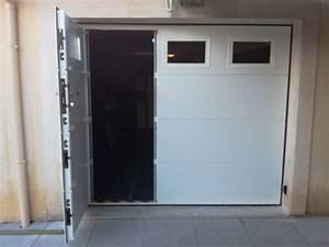Porte Garage Sectionnelle Avec Portillon : installation d 39 une porte de garage sectionnelle motoris e ~ Melissatoandfro.com Idées de Décoration