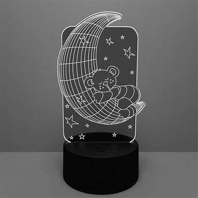 Lamp Led Moon Bear Acrylic
