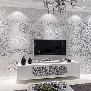 Victorian damask wallpaper silver leaf scroll background