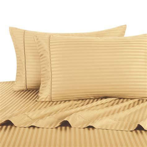 split king adjustable king bed sheet 5pc stripe gold 100 cotton 300tc ebay
