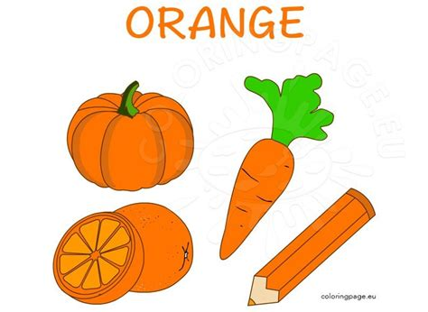orange  images coloring page