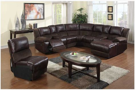 leather reclining sectional with chaise f brown microfiber leather reclining sectional sofa chaise