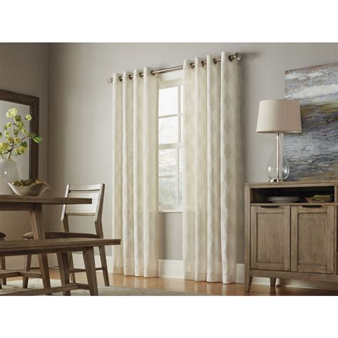 light filtering privacy curtains shop allen roth breesport 84 in linen polyester grommet