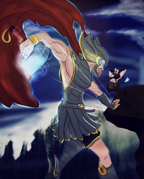 Kratos Vs Thor God Of War By Pmdgv On Deviantart
