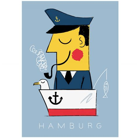 Human Empire Hamburg Kapitän Poster (50x70cm) selekktcom