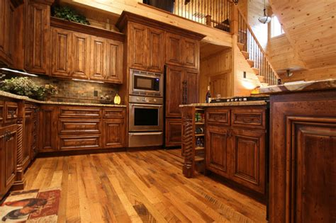 cabin style kitchen cabinets rustic cabin style traditional kitchen