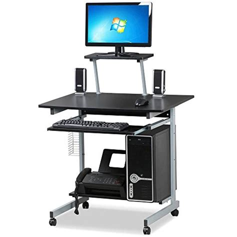 desk with printer drawer go2buy small spaces computer desk with keyboard tray 6689