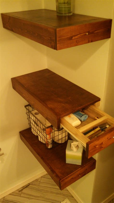 Kitchen Drawers Or Shelves by Diy Floating Shelves With Drawers In 2019