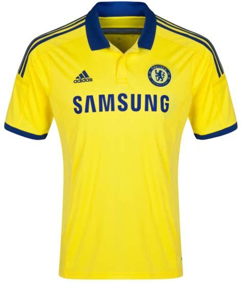 Chelsea Yellow new chelsea away kit 2014 2015 yellow chelsea jersey 14