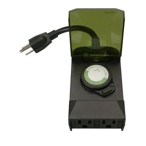 christmas light timer home depot woods 24 hour outdoor mechanical light timer 3 conductor