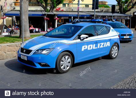Italian Police Car, Alghero, Sardinia, Italy Stock Photo