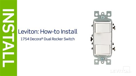 Wiring Diagram For 2 Pole Rocker Switch by Leviton Dual Switch Wiring Diagram Repair Manual