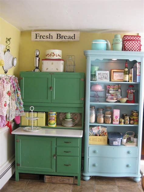 colorful vintage kitchen storage ideas pictures