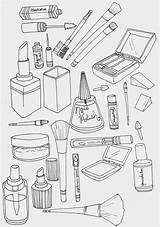 Coloring Makeup Pages Sheets Google Doodles Books sketch template