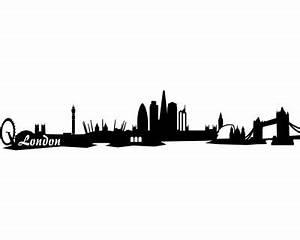 London Skyline Schwarz Weiß : wandtattoo london skyline wandaufkleber schwarz 30x6cm plot4u ~ Watch28wear.com Haus und Dekorationen