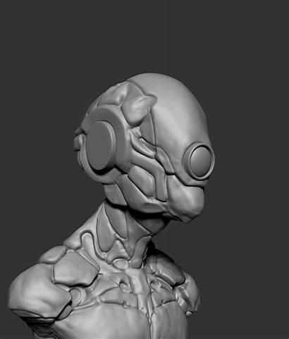 Process Robot Pablo Munoz Sculpting Tracker Concept