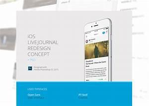 Ios livejournal redesign concept blazrobarcom psd for Ios splash screen template psd