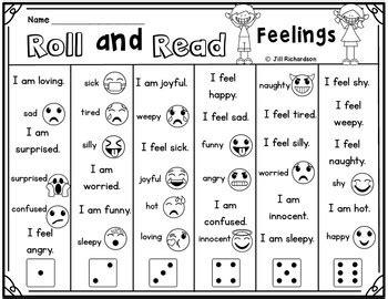 esl game ell newcomer roll  read feelings esl distance