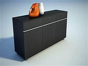 Furniture 3ds max model black vestibule cabinet 3ds max for Kitchen furniture 3ds max free