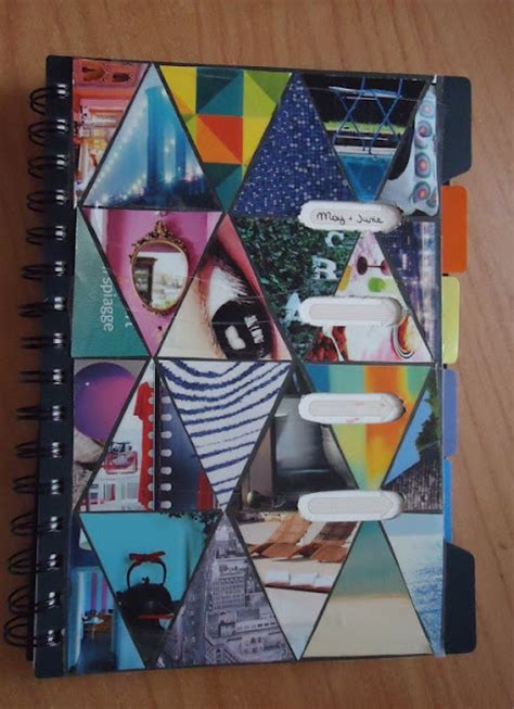 notebook cover redo   decorate  collage notebook