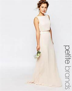 tfnc petite tfnc petite wedding sateen bow back maxi With petite dresses for wedding party