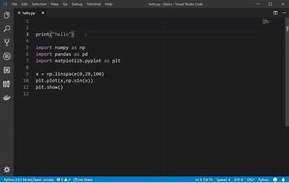 Python Code Run Visual Studio Terminal Interactive