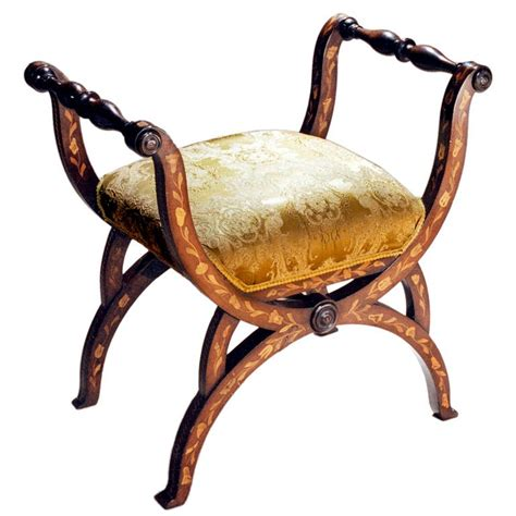 chaise curule marquetry curule bench for sale at 1stdibs