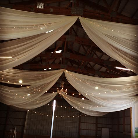 cieling drapes machine shed weddings rent today g k event rentals