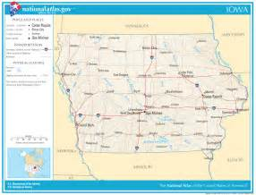 Iowa State Highway Map