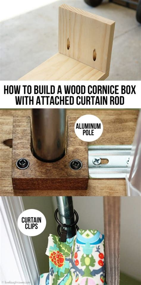How To Cornice - how to build a wood cornice box with attached curtain rod