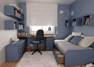 jolie deco chambre ado garcon bleu gris deco With chambre ado bleu gris