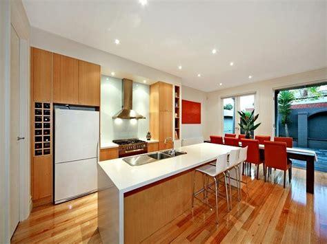 designing of kitchen modern kitchen dining kitchen design using floorboards 3309