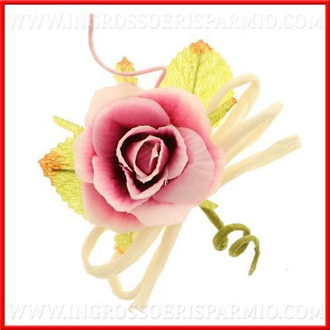 fiori per bomboniere fai da te fiori decorativi rosa accessori confezionamento bomboniere