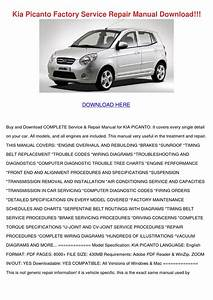 Kia Picanto Factory Service Repair Manual Download By