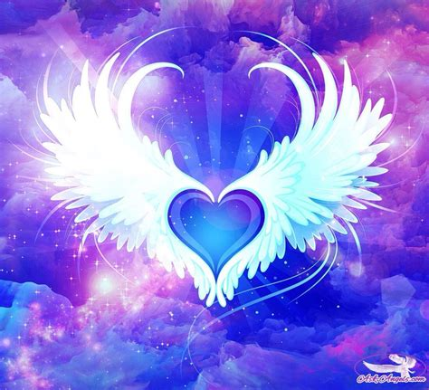 purple heart wings heart wings heart heart  wings