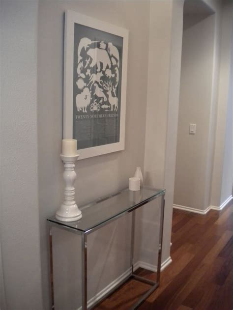 cb smart glass console table  entryway pinterest