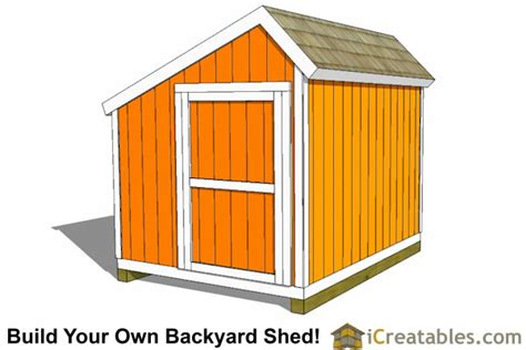 8x10 Saltbox Shed Plans by 8x10 Saltbox Shed Plans Storage Shed Icreatables
