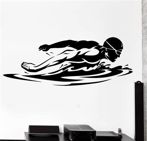 swim wall decal sport swim swimming swimmer butterfly stroke mural wall sticker room