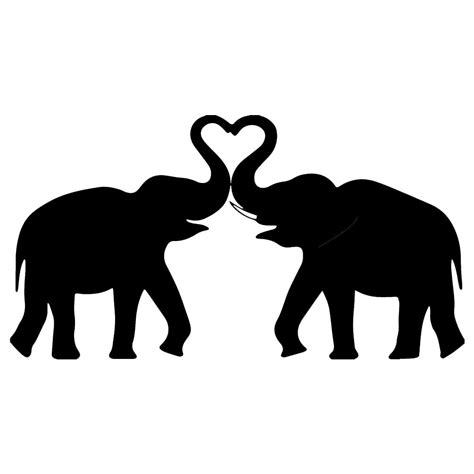 image result  elephant heart silhouette laser cut