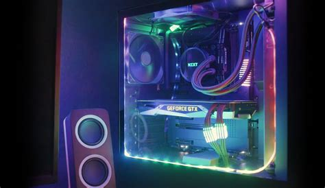 Advanced Lighting by Nzxt Gaming Pc Hardware Computer Cases Liquid Cooling