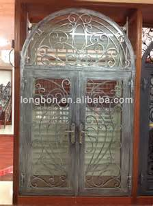Wrought Iron Double Entry Doors Residential